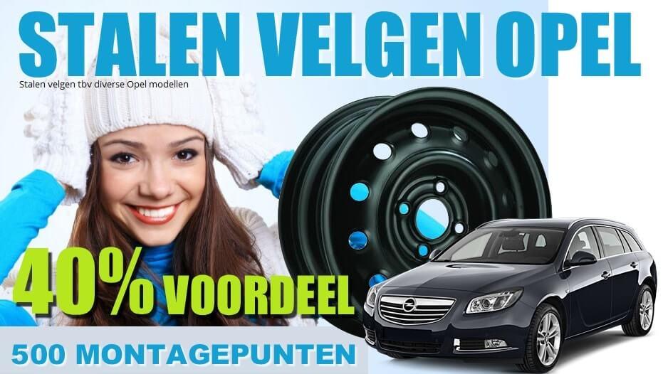Opel stalen velgen