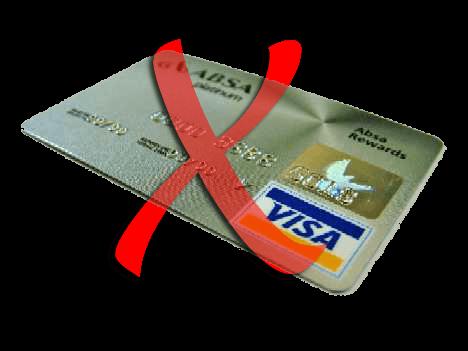 Geen creditcards